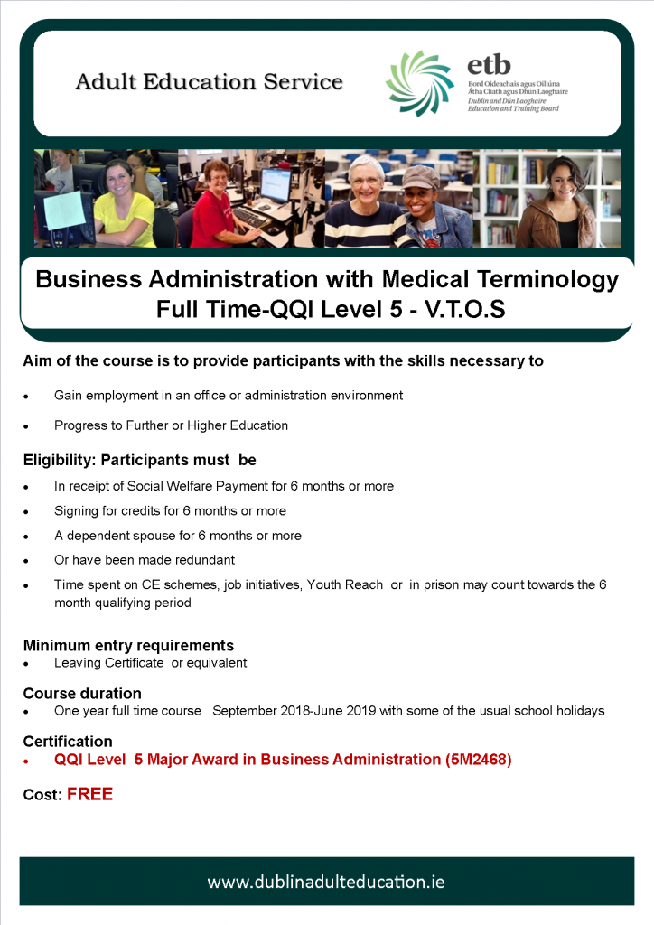 business administration with medical terminology – level 5 ...