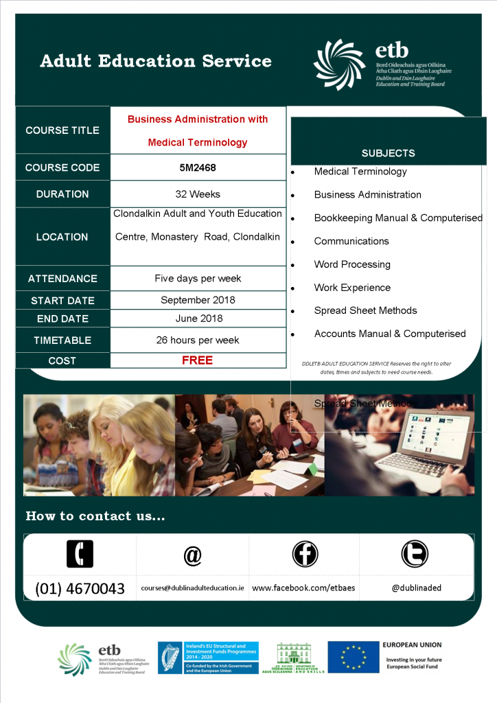 Business Administration with Medical Terminology – Level 5